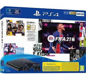 Herní konzole Sony PS4 Slim - 500GB+FIFA21+ 2x DualShock4 - Sony