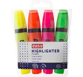FLASH-zvýrazňovač, mix 4 barvy - EASY