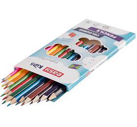 EasyColours dřevěné pastelky trojhranné 12 ks/sada - EASY