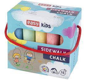 EASY Colours-chodníkové křídy 15 ks/sada - EASY