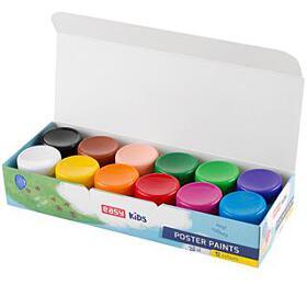 Plakátové/temperové barvy v kelímku 12 barev - EASY