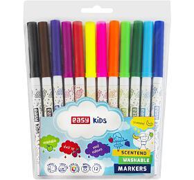 Fixy S VŮNÍ, 12 barev, vypratelné - EASY