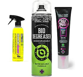 SET Muc-Off Bio Drivetrain Cleaner 500ml + Bio Degreaser 500ml + Bio Grease 150g - Muc-Off