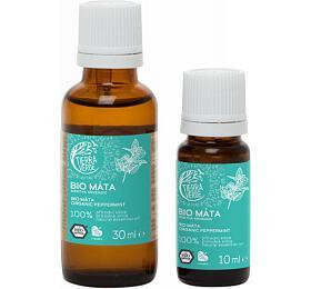 Tierra Verde Esenciální olej Máta BIO (30 ml) - podpoří dýchací cesty a soustředění - Tierra Verde