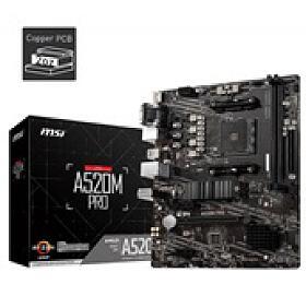 MSI MB Sc AM4 A520M PRO, AMD A520, VGA, 2xDDR4, mATX - MSI