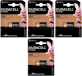 SET baterií DURACELL FOTO 4xCR123 Lithium - DURACELL