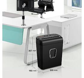 PEACH skartovač Cross Cut Shredder PS500-30, P-4, 7 listů, spony, svorky, kreditní karty, 13 L - Peach