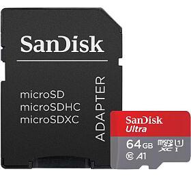 Paměťová karta SanDisk Ultra microSDXC 64GB + adaptér (SDSQUA4-064G-GN6MA) - Sandisk