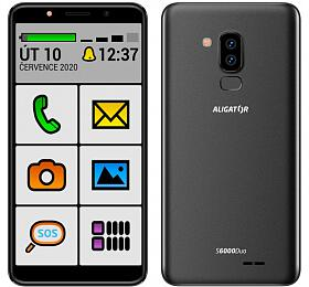 Mobilní telefon ALIGATOR S6000 SENIOR Duo 16GB, černý - Aligator