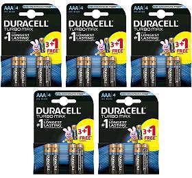 SET TURBO MAX Alkalická baterie Duracell Turbo MAX AAA 2400 20ks - DURACELL