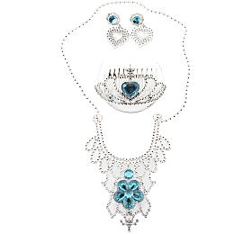 Sada krásy princezna korunka+náhrdelník+náušnice plast na kartě 18x25x3cm - Teddies