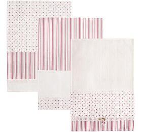 Utěrka ORION Heart Gifty bavlna 3ks růžová - Orion