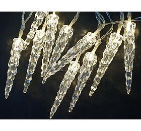 Solární vánoční osvětlení Sharks - Světelný řetěz (rampouchy) s 20 LED diodami, bílá - Sharks
