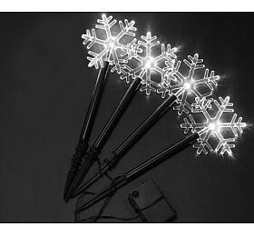 Solární vánoční osvětlení Sharks- Sněhová vločka, bílá - Sharks