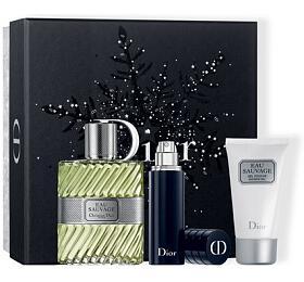 Dior Eau Sauvage toaletní voda 100 ml + sprchový gel 50 ml + toaletní voda plnitelná 10 ml Pro muže dárková sada - Dior