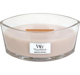 Vonná svíčka WoodWick Vanilla &Sea Salt 453,6 g - WoodWick