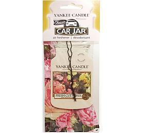 Yankee Candle Osvěžovač do auta Fresh cut roses 1x papírová visačka - Yankee Candle