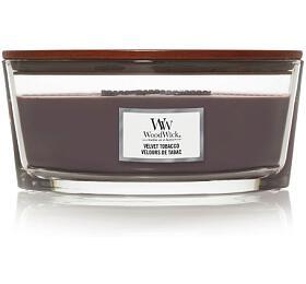 WoodWick vonná svíčka s dřevěným knotem Velvet Tobacco 453g - WoodWick
