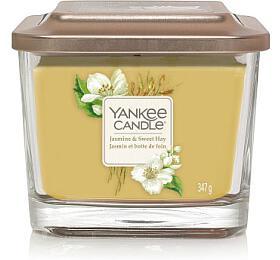 Yankee Candle Elevation vonná svíčka Jasmine & Sweet Hay 347g - Yankee Candle