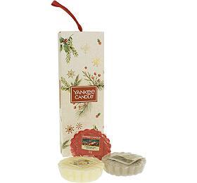 Yankee Candle Vánoční dárková sada vonných vosků do aromalampy 3ks - Yankee Candle