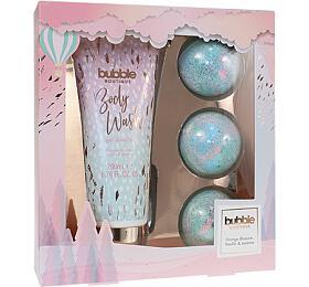 Style & Grace Bubble Boutique dárková sada (tělové mýdlo 200ml + pěnové koule do koupele 3x80g) - Style & Grace