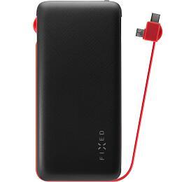 Powerbanka FIXED Zen 10 000 s kabelem microUSB/USB-C, 10 000 mAh, černá - FIXED