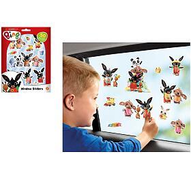 Okenní dekorace Bing Bunny 50ks samolepek na kartě 16x21cm - Lowlands