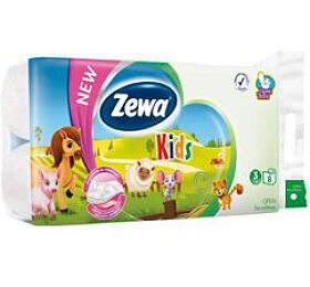 Wc toaletní papír ZEWA Deluxe Aqua Tube Kids 3V 8ks - Ostatní