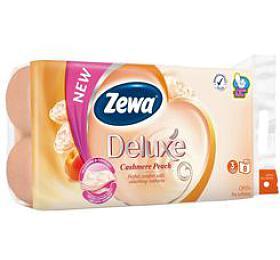 Wc toaletní papír ZEWA Deluxe Aqua Tube Broskev 3V 8ks - Ostatní