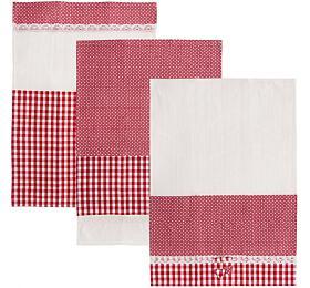 Utěrka ORION Dot Gifty bavlna 3ks červená - Orion
