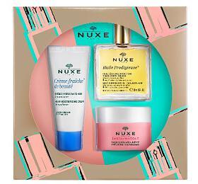 Nuxe Essential Face Care dárková sada (denní pleťová péče Creme Fraiche de Beauté 30ml + suchý olej Huile Prodigieuse 50ml + pleťová maska Insta-Masque 50ml) - Nuxe