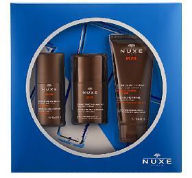 Nuxe Men Essential Skincare dárková sada (deodorant roll-on 50ml + hydratační gel pro všechny typy pleti 50ml + sprchový gel pro všechny typy pokožky 100ml) - Nuxe