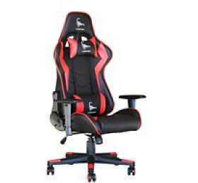GEMBIRD Gaming chair / herní křeslo SCORPION 03, černá/červená, kůže (GC-SCORPION-03) - Gembird