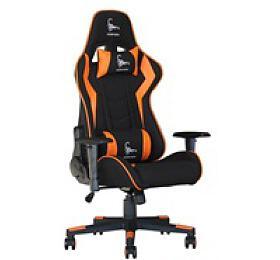 GEMBIRD Gaming chair / herní křeslo SCORPION 04, černá sítovina, oranžová kůže (GC-SCORPION-04) - Gembird