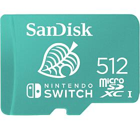 Sandisk Nintendo Switch micro SDXC 512GB 100MB/s A1 C10 V30 UHS-1 U4 - Sandisk
