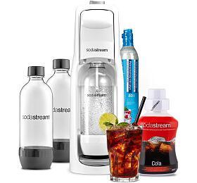 SET Výrobník sody Sodastream JET WHITE + Lahev DuoPack 1l + Příchuť COLA 500ml - SodaStream