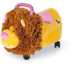 Odrážedlo Funny Wheels Rider Ride-On lvíček plyšový růžový - Funny Wheels