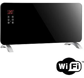 Solight horkovzdušný konvektor sklokeramický 2000W, WiFi, LCD, nastavitelný termostat, časovač - Solight