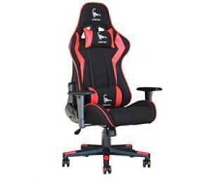 GEMBIRD Gaming chair / herní křeslo SCORPION 02, černá sítovina, červená kůže (GC-SCORPION-02) - Gembird