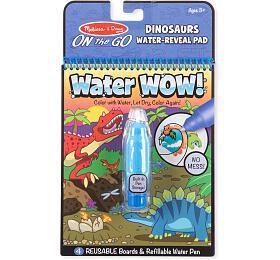 Kouzelné malování vodou Dino omalovánky 15x19cm + štětec - Lowlands