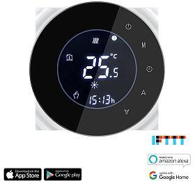 iQtech SmartLife GCLW-B, WiFi termostat pro bojlery a kotle s bezpotenciálovým spínáním, černý - iQtech SmartLife
