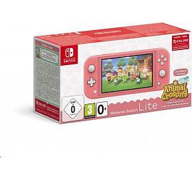 Nintendo Switch Lite Coral + ACNH + NSO 3 měsíce (NSH125) - Nintendo