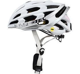 Chytrá cyklistická helma Safe-Tec TYR 3 White S (53cm - 55cm) - SAFE-TEC