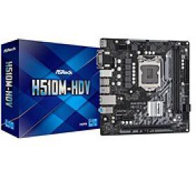 ASRock MB Sc LGA1200 H510M-HDV, Intel H510, 2xDDR4, 1xHDMI, 1xDVI, 1xVGA, mATX - ASROCK