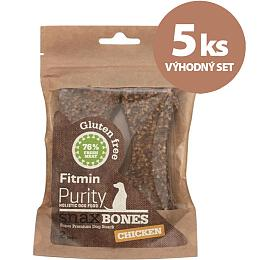 Set 5 ks Fitmin dog Purity Snax BONES chicken - FITMIN