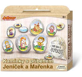 Malování na oblázky/kameny s příběhem Jeníček a Mařenka kreativní sada v krabičce 19x16x4cm - SMT Creatoys