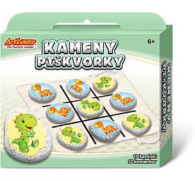 Kameny/piškvorky Dinosauři kreativní sada v krabičce 19x16x4cm - SMT Creatoys