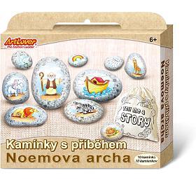 Malování na oblázky/kameny s příběhem Noemova archa kreativní sada v krabičce 19x16x4cm - SMT Creatoys