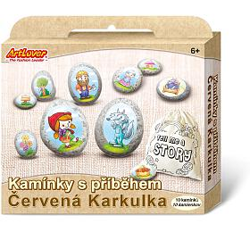Malování na oblázky/kameny s příběhem Červená Karkulka kreativní sada v krabičce 19x16x4cm - SMT Creatoys