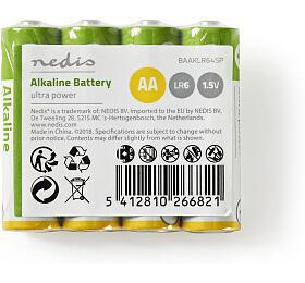Alkalické baterie AA / 1.50 V / 4 ks / Fólie - NEDIS